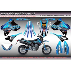 "Suzuki DRZ400SM ""Laser"" Full Graphics Kit Blue."