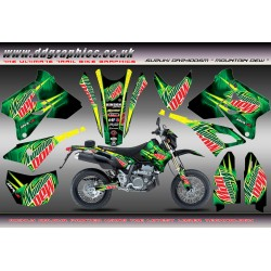 "Suzuki DRZ400Sm ""Mountain Dew"" Full Graphics Kit ."