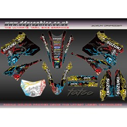 "Suzuki DRZ400Sm ""Tatoo"" Full Graphics Kit Black"