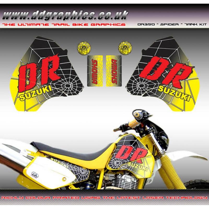 Decals, Emblems & Flags Motorcycle Accessories SUZUKI DR350