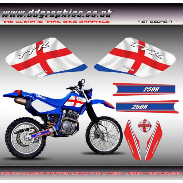 "TTR 250 ""England Flag"" Tank Graphics Kit"