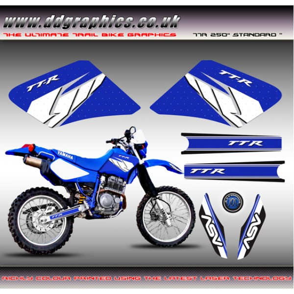 "Yamaha TTR250 ""Standard "" Tank Graphics Kit"