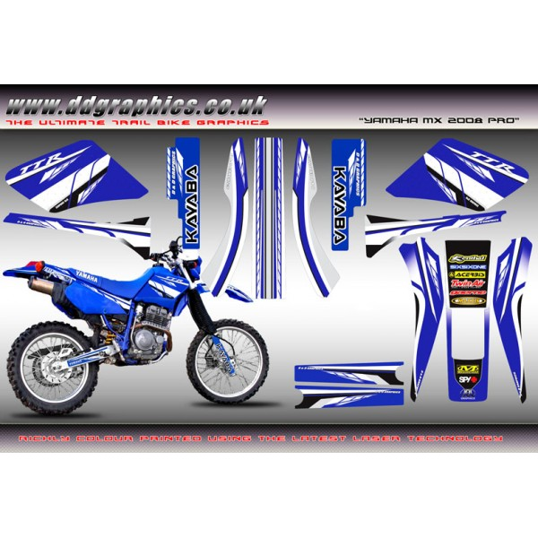 "TTR250 ""Yamaha MX Pro"" Full Graphics kit."