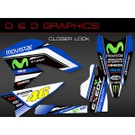 "Yamaha WR250R WR250X ""The Greatest"" "" Full Graphics Kit blue"