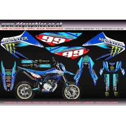 Yamaha WR125R wr125x Monster Graphics kit Blue