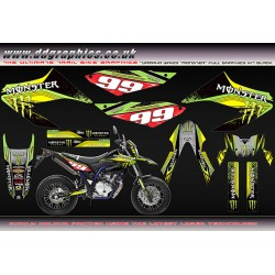 Yamaha WR125R WR125x  Monster Graphics kit Black
