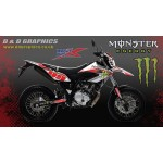 Yamaha WR125 wr125x Monster Graphics kit white
